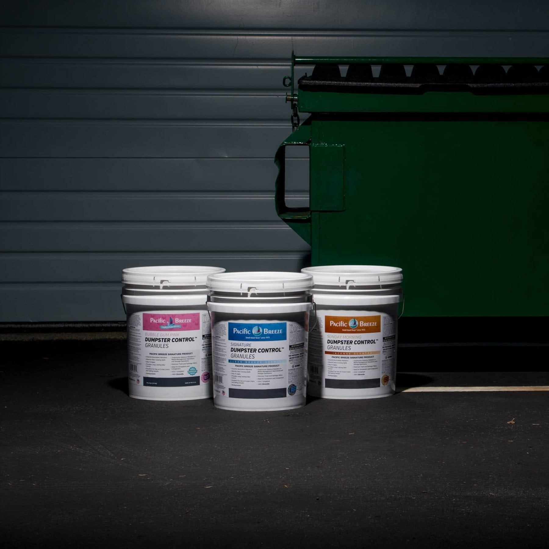 3 Fragrances of Dumpster Control Granules Buckets